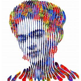 Painting sculpture on canvas, unique and original work of Virginie SCHROEDER international artist