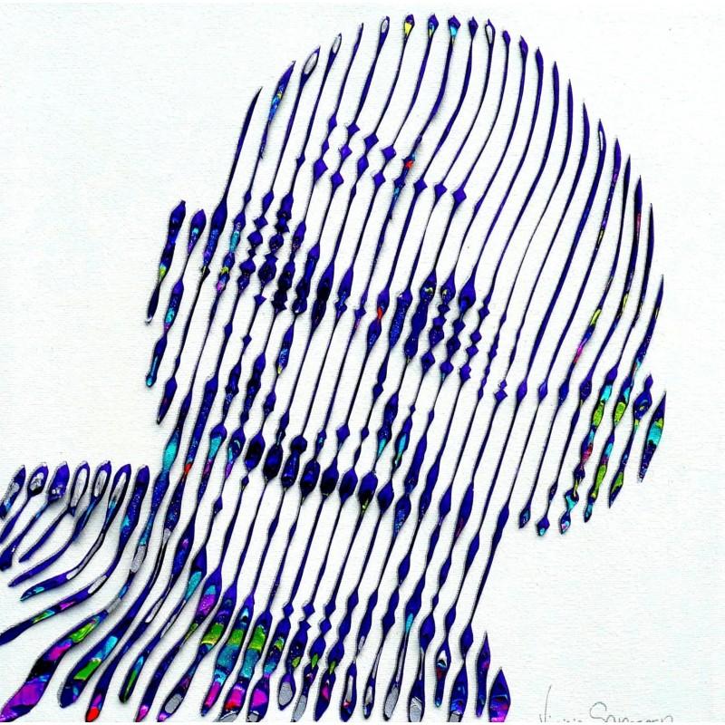 Peinture sculpture sur toile, œuvre unique et originale création de Virginie SCHROEDER artiste internationale