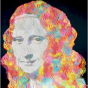 création unique et originale. Peinture sculpture sur toile faite par Virginie Schroeder Artiste Peintre Sculpteur