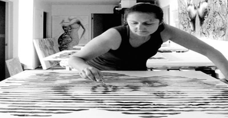 Virginie Schroeder en atelier